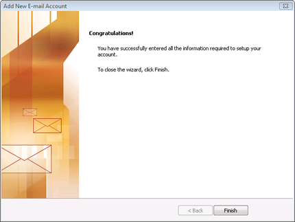 Microsoft® Outlook 2007, setup an email account in Outlook 2007