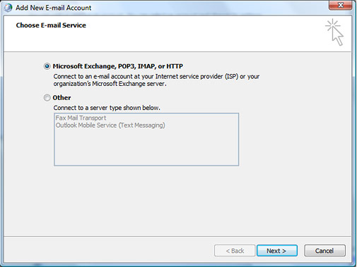 Setting up Microsoft Exchange Email Account in Outlook Step 6