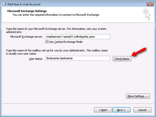 Setting up Microsoft Exchange Email Account in Outlook Step 15